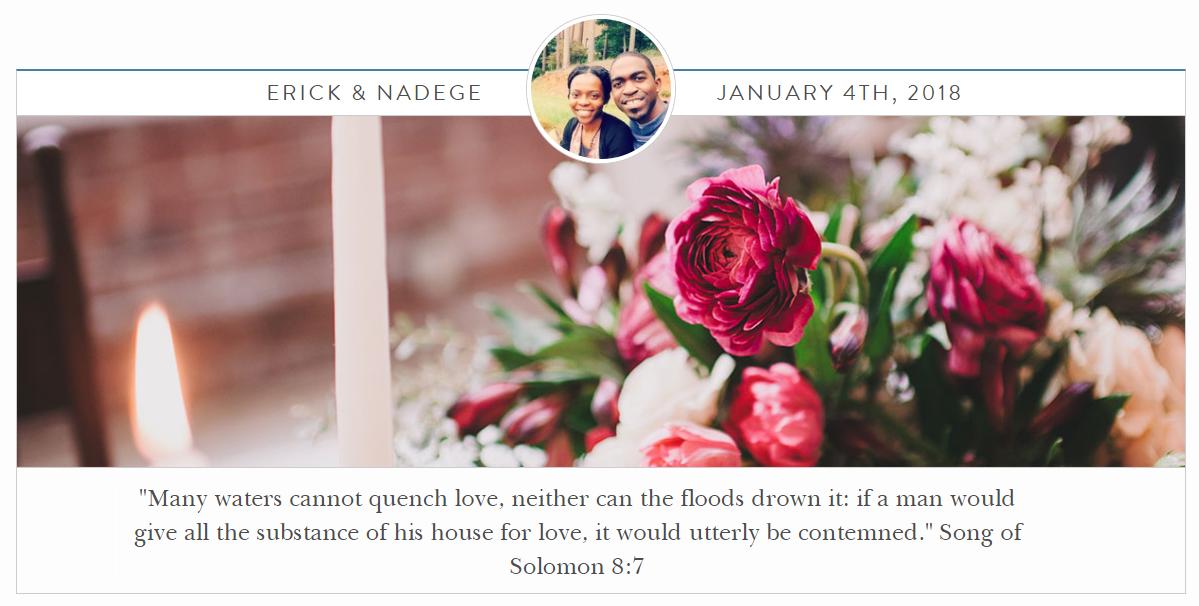 Erick and nadeges wedding website wedding registry malvernweather Gallery