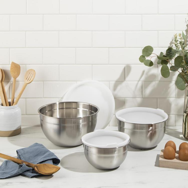 Cuisinart 3 Piece Mixing Bowl Set With Lids Zola