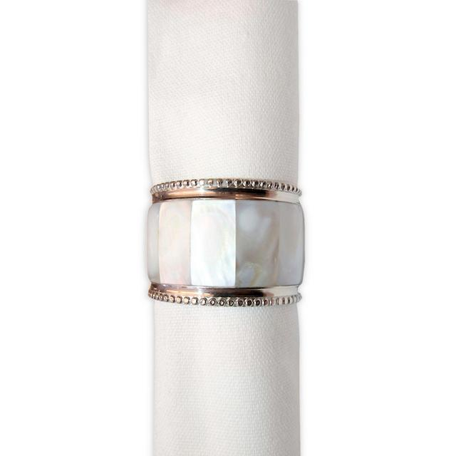 Smith Tri Glass Napkin Rings Set of 4 by Park B