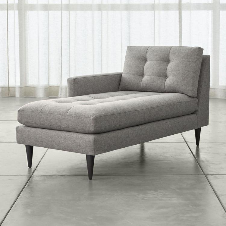 Crate And Barrel Petrie Right Arm Midcentury Chaise Lounge Zola