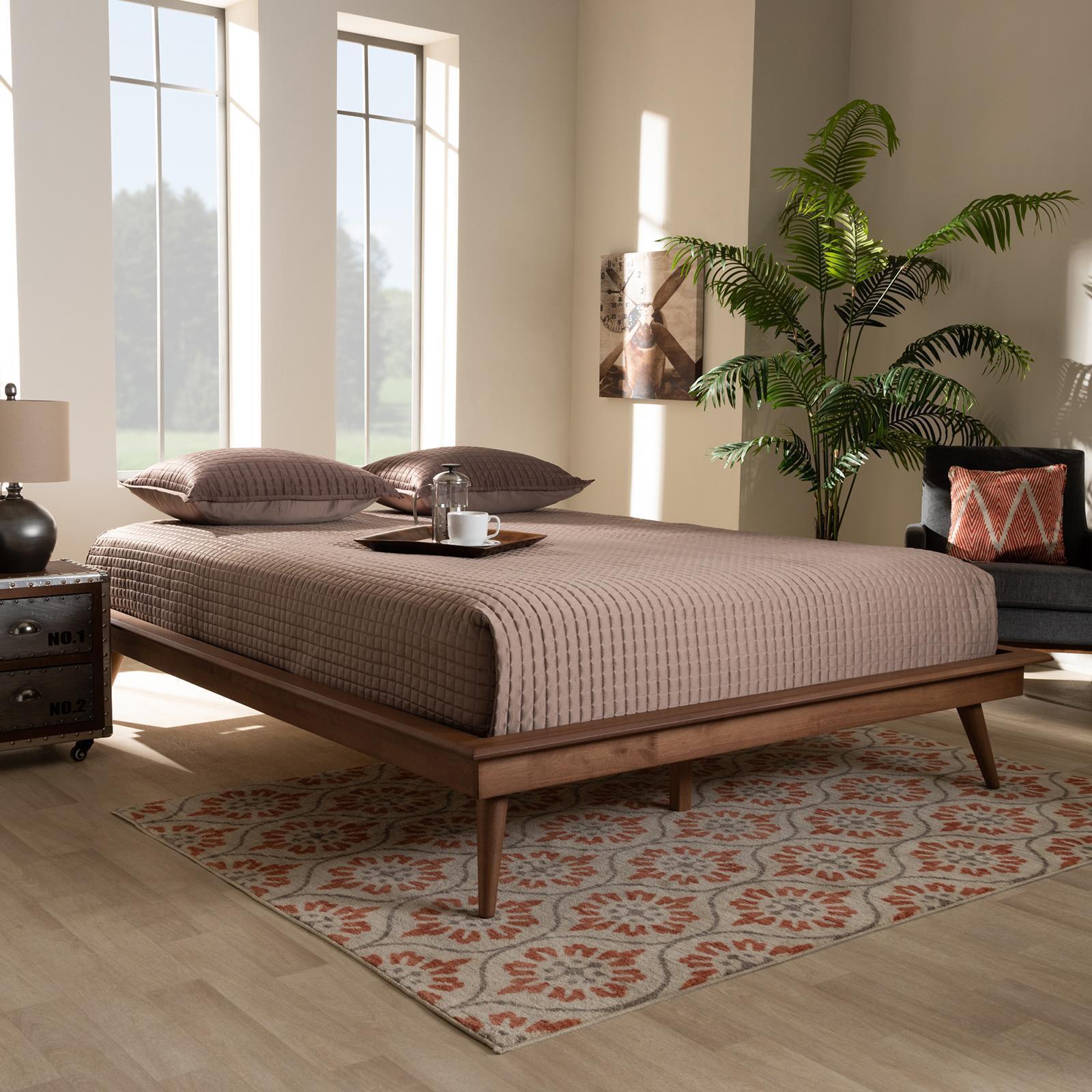 Gold Glass Dining Table, Baxton Studio Karine Mid Century Modern Platform Bed Frame Zola