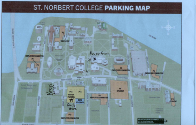 st norbert campus map Kristin Nick And Van Do S Wedding Website st norbert campus map