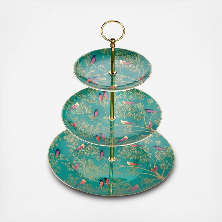 New Portmeirion Sara Miller Chelsea Hummingbird Gold Gift Boxed Trinket Dish