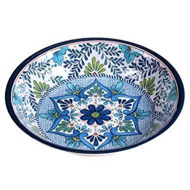 Talavera Blue Flower Ilustration Pattern Table Hook Folding Bag Desk Hanger Foldable Holder