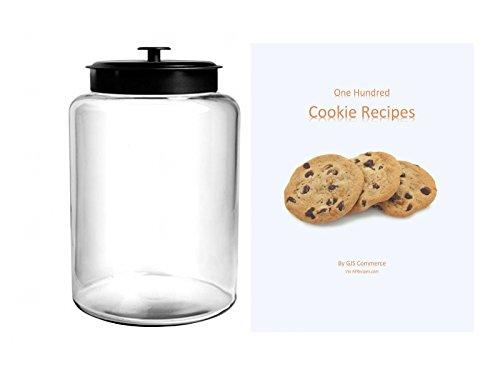 2.5 Gallon Cookie Jar, With Black Metal Airtight Lid, Anchor Hocking  Canister Montana (