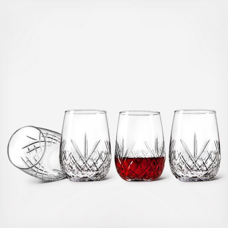 Set of 4 Godinger Dublin Stemless Goblets