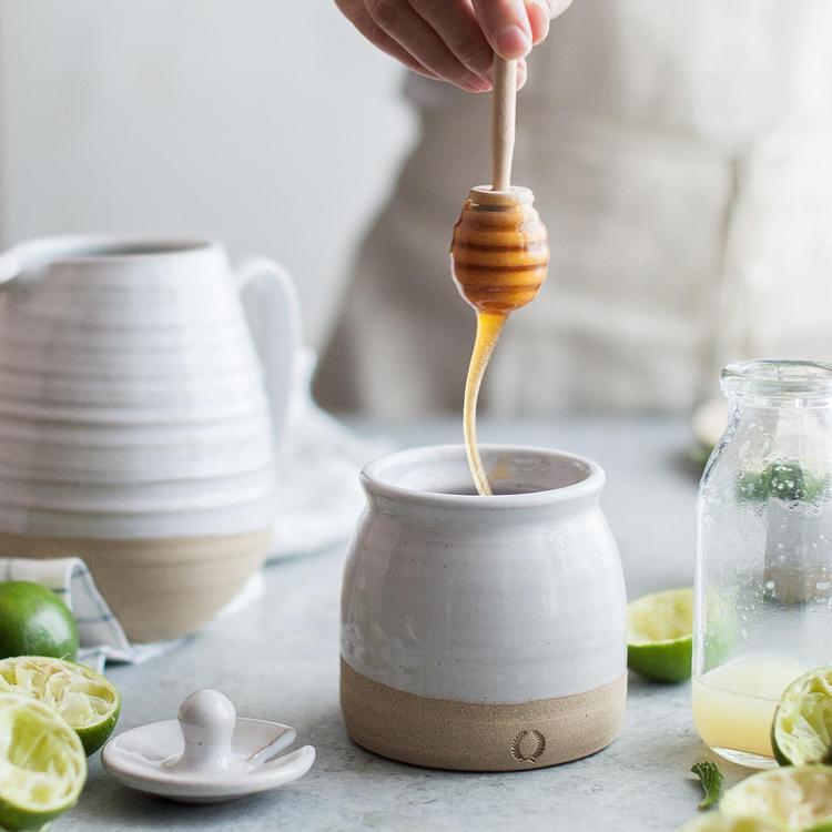 Farmhouse Pottery Beehive Honey Pot Honey Dipper Zola
