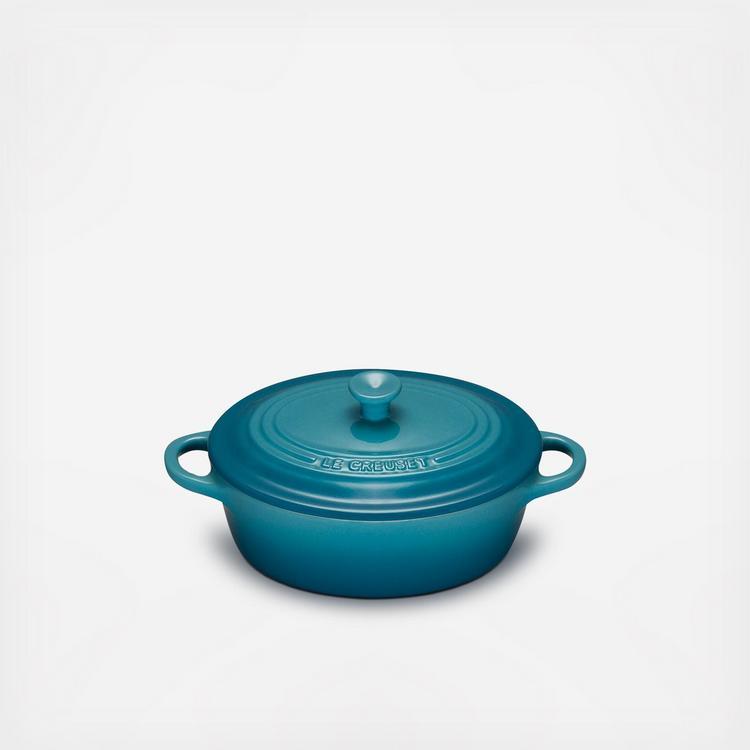 Le Creuset Stoneware 12-Ounce Mini Oval Cocotte Caribbean