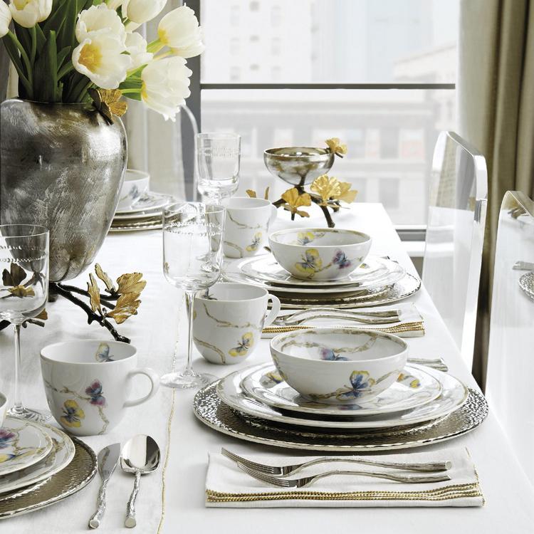Set of 4 Michael Aram Butterfly Ginkgo Salad Plate
