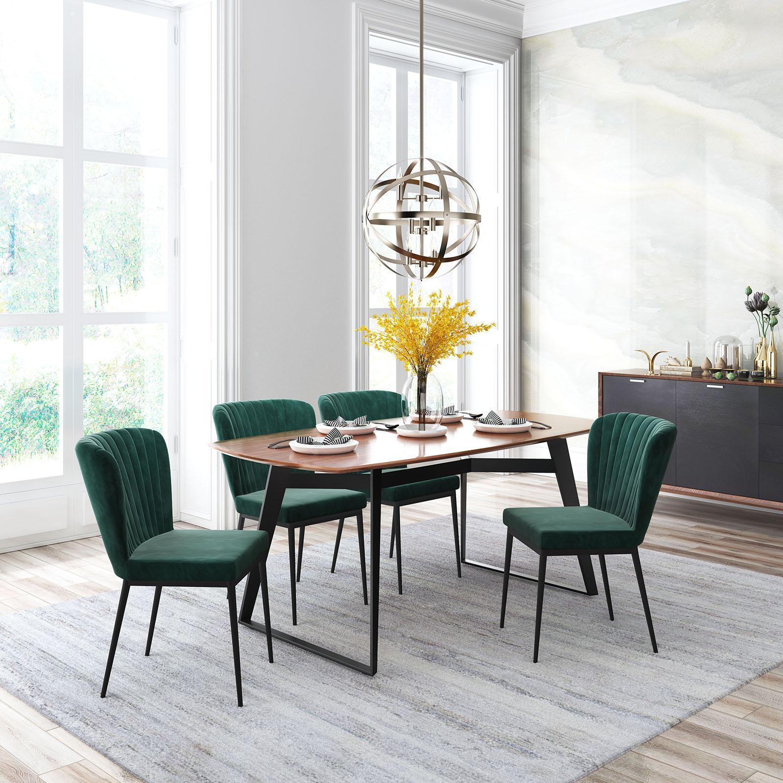 Zuo Tolivere Velvet Dining Chair Set Of 2 Zola