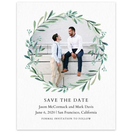 Paper Save The Date Eastwick Wreath