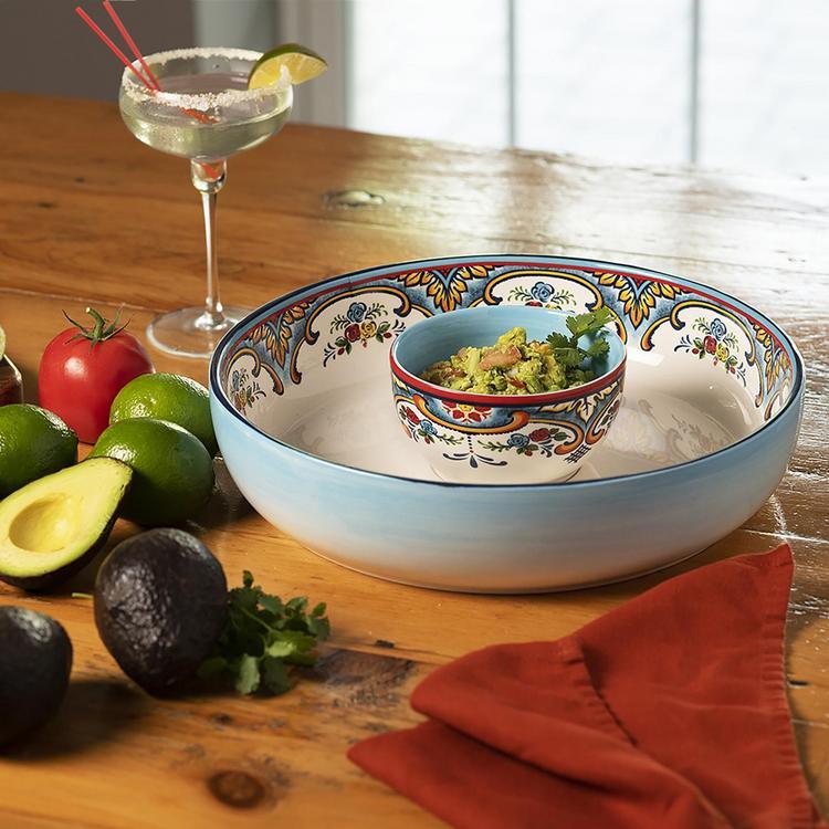 Euro Ceramica Zanzibar Chip Dip Bowl Zola