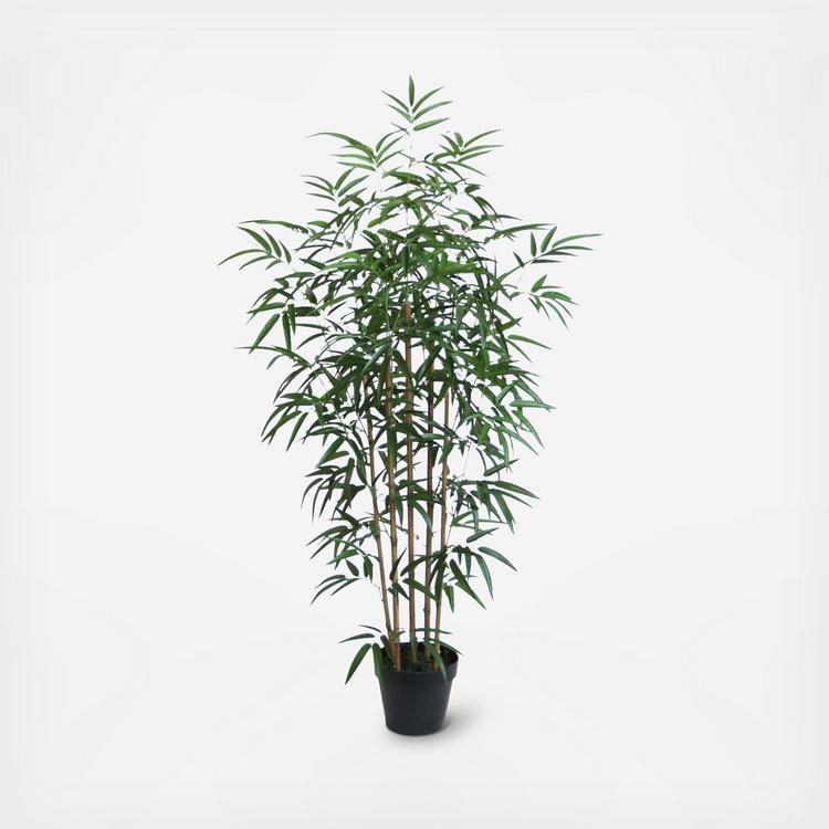 Bidkhome Small Potted Faux Bamboo Plant Zola