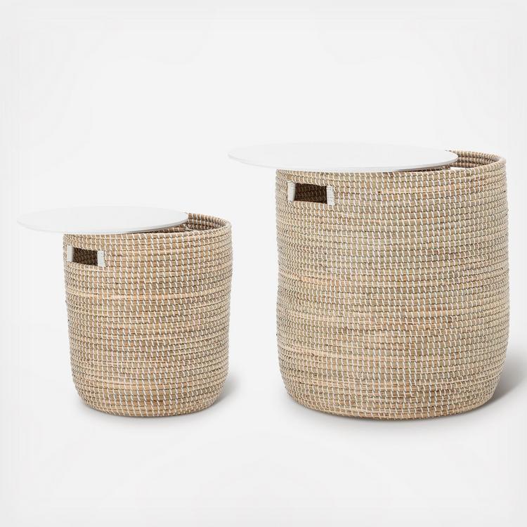 Bloomingville Seagrass 2 Piece Basket Table Set Zola